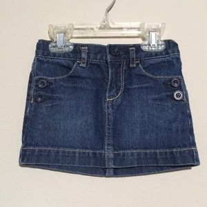 Gap denim skirt with button accents 3T